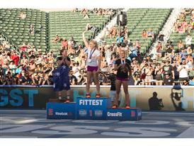Davidsdottir on Podium