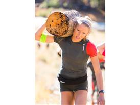 Reebok athlete Amelia Boone log carry