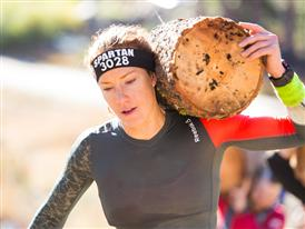 Reebok athlete Rose Wetzel log carry