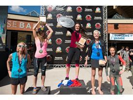Womens podium