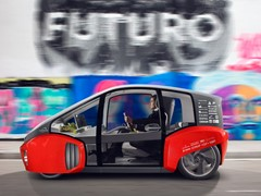 "Rinspeed presents the clever urban ""Oasis"" runabout at the CES in Las Vegas and the NAIAS in Detroit in January 2017"