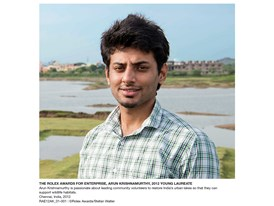The Rolex Awards for Enterprise, Arun Krishnamurthy, 2012 Young Laureate