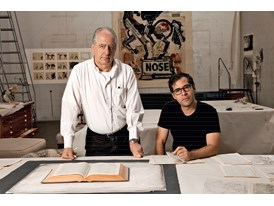 William Kentridge and Mateo López at William Kentridge's studio in Houghton, Johannesburg.