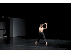 Eduardo Fukushima rehearses at Cloud Gate's studio.