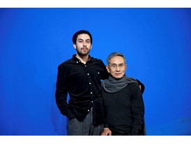 Eduardo Fukushima and Lin Hwai-min at Cloud Gate's studio.