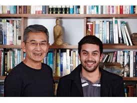 Mentor Lin Hwai-min and protégé Eduardo Fukushima.