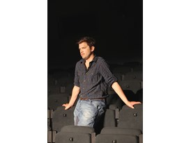 Michał Borczuch during the rehearsals of Brand. The City. The Chosen Ones at the Stary Theatre, Cracow.