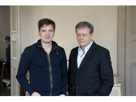 Patrice Chéreau, mentor (right), and Michał Borczuch, protégé