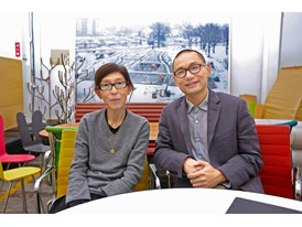 Mentor Kazuyo Sejima and protégé Yang Zhao at the office of Kazuyo Sejima & Associates in Tatsumi.