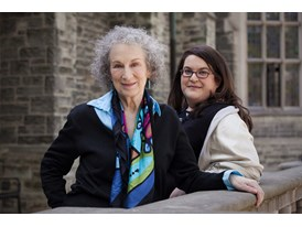 Margaret Atwood, Mentor (right), and Naomi Alderman, Protégée