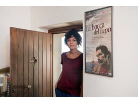Sara Fgaier in her studio in Riomaggiore.