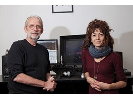 Walter Murch, mentor, and Sara Fgaier, protégée.