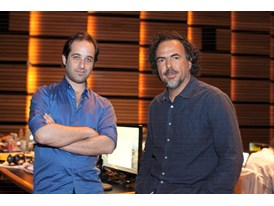 Alejandro G. Iñárritu, mentor and Tom Shoval, protégé (left)
