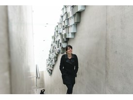 Protégée Gloria Cabral visits the Kunsthaus Bregenz, an exhibition space in Austria designed by her mentor, Peter Zumtho
