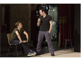 Protégé Myles Thatcher (left) and mentor Alexei Ratmansky on stage at the Bavarian State Opera in Munich before a perfor