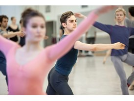 Protégé Myles Thatcher rehearsing with other dancers from the corps de ballet of the San Francisco Ballet at the Chris H