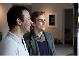 Mentor Alexei Ratmansky (left) and protégé Myles Thatcher at the Chris Hellman Center for Dance, home to the San Francis