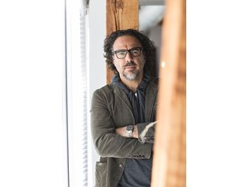 "Mentor Alejandro González Iñárritu, world-renowned director of ""Birdman"", in his office in Culver City, Los Angeles."