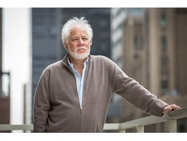 Mentor Michael Ondaatje in New York City.