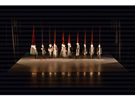 "At the Teatro de la danza in Mexico City's Centro Cultural del Bosque, dancers perform ""Telegrama a los angeles"", with l"