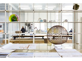 An interior view of Olafur Eliasson's studio in Berlin.
