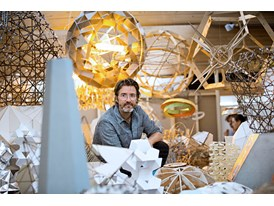 At the Louisiana Museum of Modern Art in Copenhagen, Denmark, mentor Olafur Eliasson surrounded by his works.