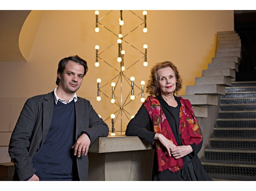 Protégé Vasco Mendonça and mentor Kaija Saariaho at their first meeting, in Lyon.