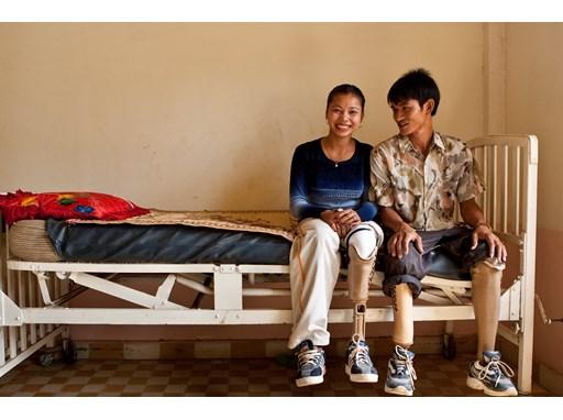 Ou Phana and her husband Peach Saveun