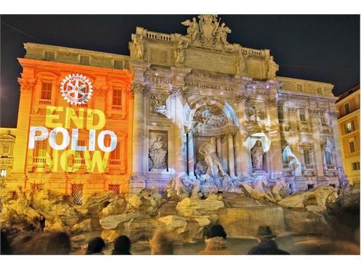 Rotary Clubs Light Up the World to Stop Polio