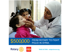 Rotary Responds to Polio Emergency in Syria