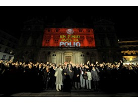 Rotary Clubs Light up the World to End Polio