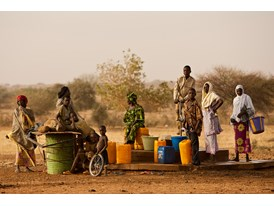 People Draw Water from a Rotary Funded Well in Kouré, Niger