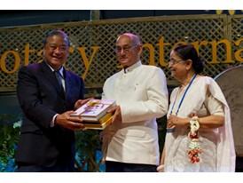 RI President Kalyan Banerjee and his wife, Binota