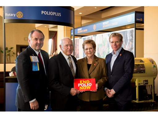 Terrence and Barbara Caster donate $1.85 million to help End Polio Now