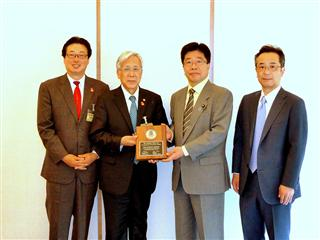 Rotary recognizes Japanese Prime Minister as leader in the global effort to eradicate polio