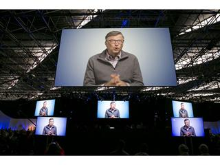 Bill Gates sends congratulations to Rotary for 30 years of successful polio eradication efforts via video message