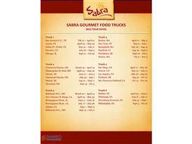 Sabra Truck Tour Schedule