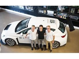 Markus Gummerer, representing team Target Competition, Loris Hezemans, driver and Andreas Gummerer, representing team
