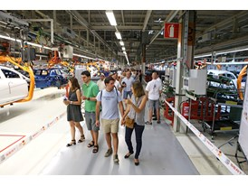 SEAT employees and their families visit the assembly line at the Martorell factory