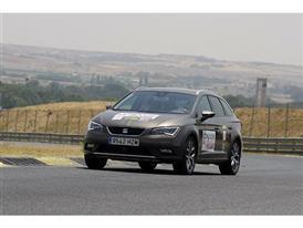 The participants drove a SEAT car several laps around MadridGÇÖs Jarama circuit