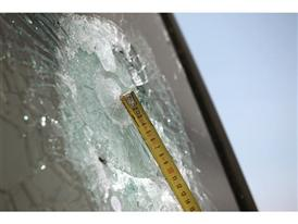 The windscreen is 22 mm thick to resist any bullet impact