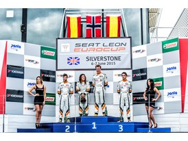 Paulsen, Cypriano, Rosell and Azcona on the podium in Silverstone after the first race eurocupv