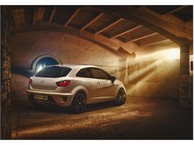 SEAT Ibiza CUPRA, exterior, static shot, 3/4 rear view