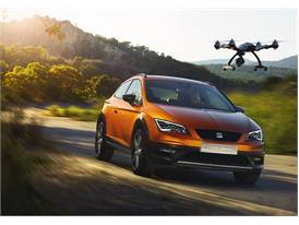 SEAT Leon Cross Sport Show Car, exterior, dynamic shot, 34 front view