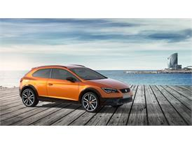 SEAT Leon Cross Sport Show Car, exterior, static shot, 34 front view