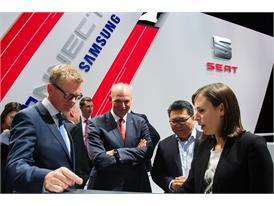 Dr. Matthias Rabe,  Jürgen Stackmann, Mr. Andrew Ko, Vice-President Samsung Europe Enterprise Business Mobile Division