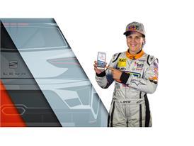 Laia Sanz, SEAT ambassador and protagonist of the 24hr Barcelona de Automovilismo-Trofeo Fermí Vélez presents the App (2