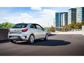 SEAT Ibiza CUPRA, exterior, dynamic shot, 3/4 rear view (2)
