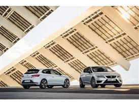 SEAT Leon CUPRA 290, exterior, static shot, 3/4 front and 3/4 rear view