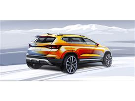 The New SEAT ATECA, design sketch